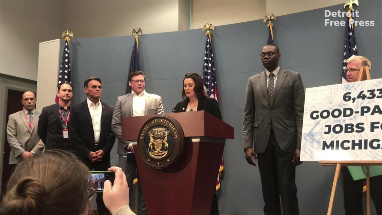 Gretchen Whitmer: 'Michigan remains the automotive capital of the world'