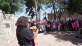 Abortion-rights activists gather at the Arizona state Capitol May 21, 2019, as part of a nationwide effortto protest laws placing restrictions on abortion.