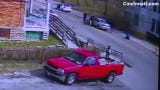 Security camera video showing the March 24, 2017, fatal shooting of Jamie Urton, after Urton's car struck a child who had run into the street.