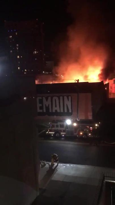 Fire engulfs storage facility for parade floats in downtown Phoenix