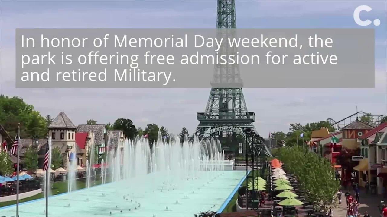 Kings Island Memorial Day Weekend: military deals, Soak City opening, fireworks