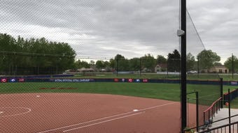New facility at Triple Crown Sports features seating for 280-300 fans, swivel seats for coaches in the dugout and a unique left-field fence