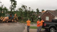 Storm damage in Carl Junction