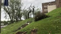 Tornado damage on Jackson Street
