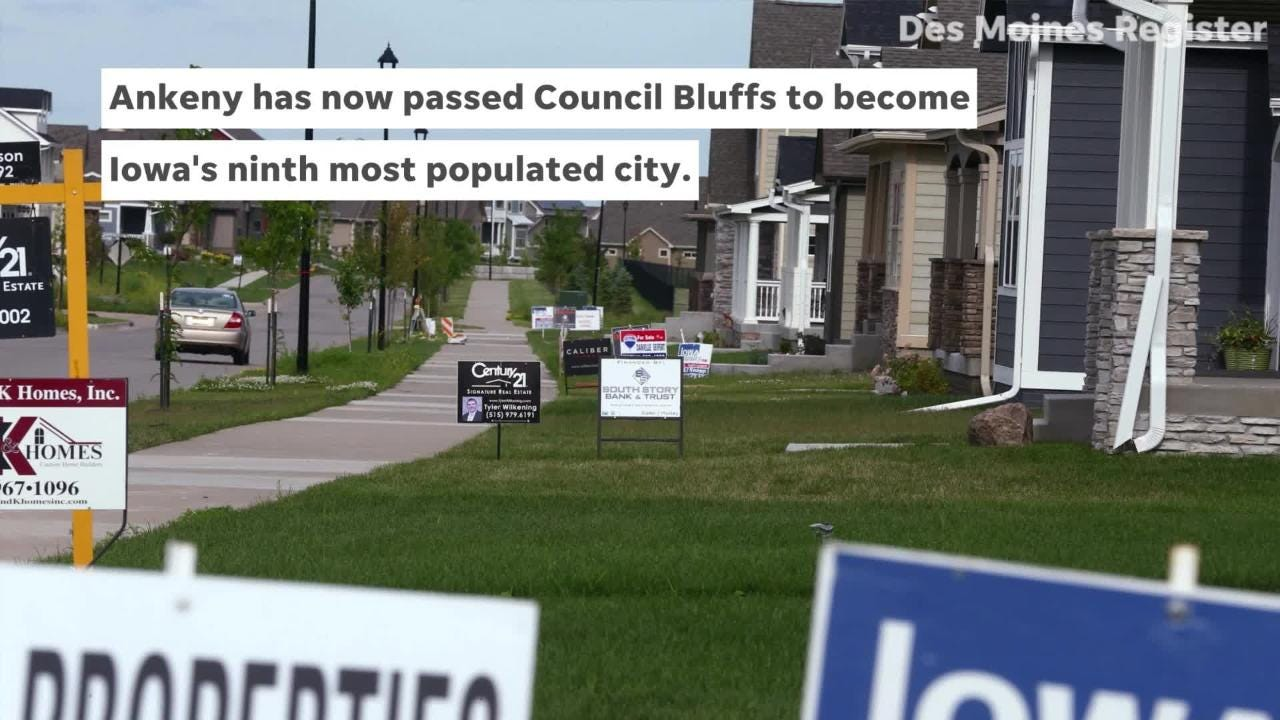 Ankeny is the 10th fastest-growing city in the U.S.