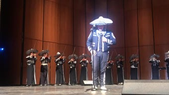 It takes a powerful voice to sing Ave Maria and Lake View Mariachi's Alvaro Ramos doesn't disappoint.