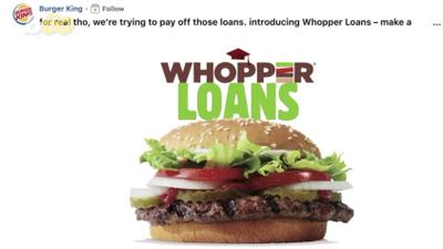 Burger King is helping graduates pay off student loans