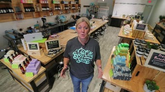 A closer look at the recently opened Buff City Soap store in Cape Coral.