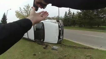 A 20-year-old driver led Butler police on a chase through the village before flipping her car.