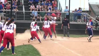 Taylor Saling singled home Tigan Braskie, capping a two-run rally in the bottom of the 9th as Lakewood beat Clinton-Massie 5-4 for a state berth.