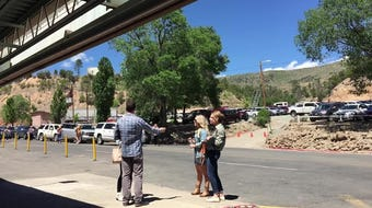 Guests arrive early at the Ruidoso Downs Race track this Memorial Day weekend.