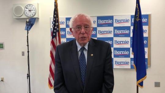 Bernie Sanders bashes Joe Biden, embraces Trump supporter during Nevada campaign stop