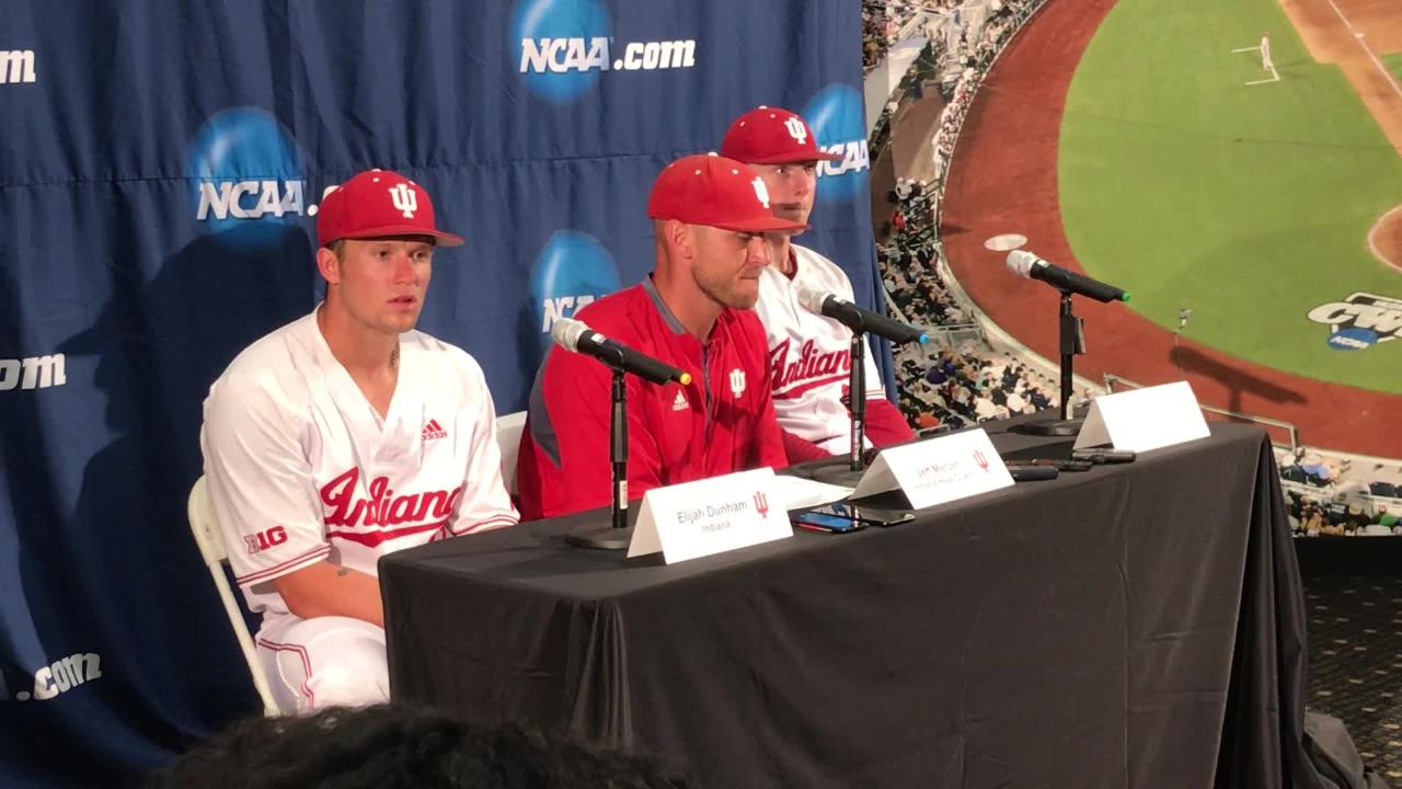 official photos 5c6c0 c982b IU baseball strikes out in NCAA tournament opener   Some of our teammates  are just hitting like a bunch of babies.