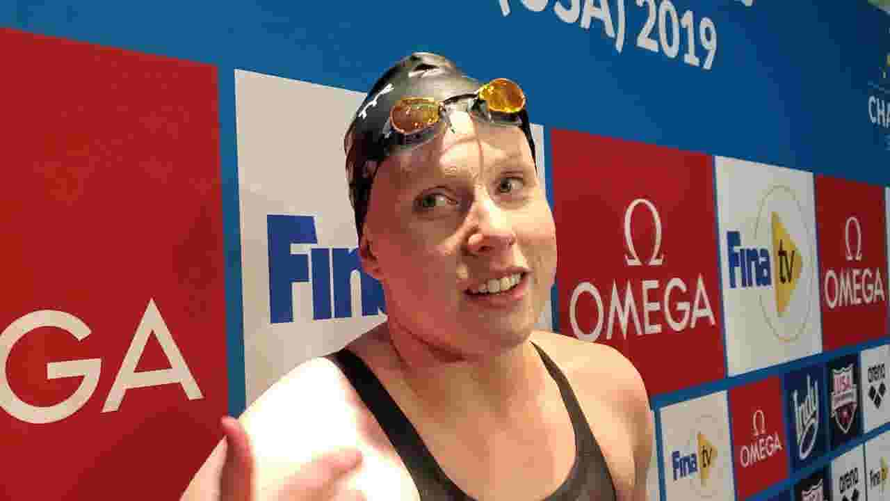 Lilly King edges Yuliya Efimova twice, sets year's best time in 50m breaststroke at IU Natatorium