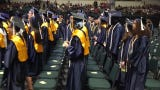 Here comes the class of 2019 for Wayne Memorial High at June 1's commencement exercise at EMU's Convocation Center.