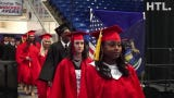 The opening processional of Livonia Churchill's June 2 graduation ceremony