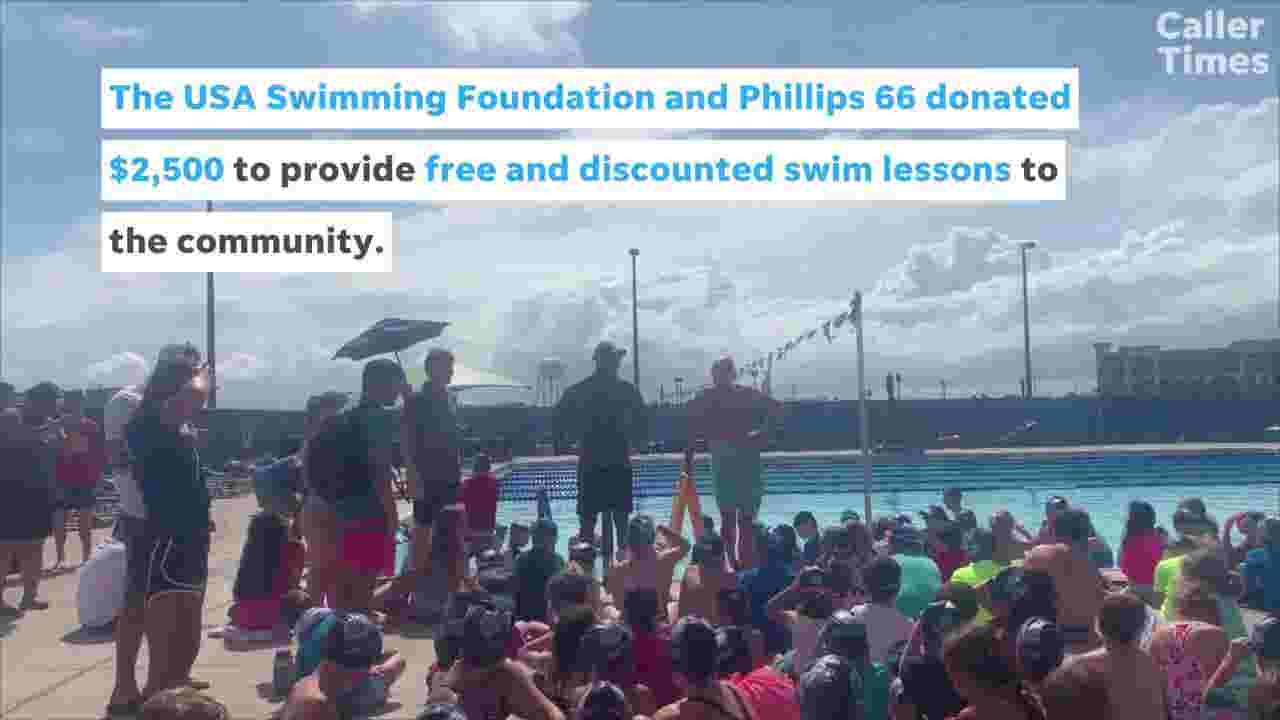 Olympic swimmers teach local youth to swim as part of Make a Splash tour