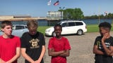 St. Cloud Apollo 3,200-meter relay members Joel Knopp, Logan Lommel, Liban Mohamed and Hamse Hussein talks about the state meet.