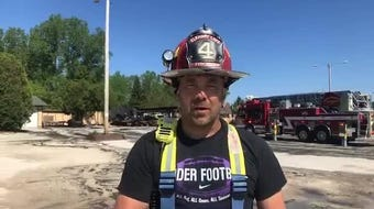 Elkhart Lake Fire Captain Keith Fischer said the fire destroyed Three Guys and a Grill East restaurant near Elkhart Lake.