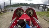 David Hines is selling his hovercraft to cover costs for home repairs.