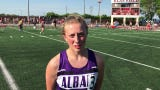 Albany's Sophia Waletzko finished the 300-meter hurdles in a school-record time of 45.81 to earn a spot in the finals Saturday in the state meet.