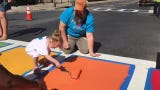Poughkeepsie Pride Weekend events included the painting of two crosswalks in the City of Poughkeepsie.