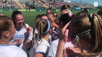 The South Burlington High School girls lacrosse teams beat Burr and Burton Academy 8-7 to win the Vermont state championship on Saturday, June 8, 2019.