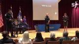 Salem Police Officer Michelle Pratt receives a Purple Heart award June 7, 2019. Pratt was shot four times during a traffic stop.