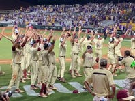 Watch it: FSU does the N-O-L-E-S cheer after beating LSU in the Baton Rouge Super Regional