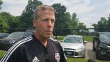 Louisville City FC coach John Hackworth discusses what it means to play rival club FC Cincinnatti on Wednesday now that their opponent is an MLS team