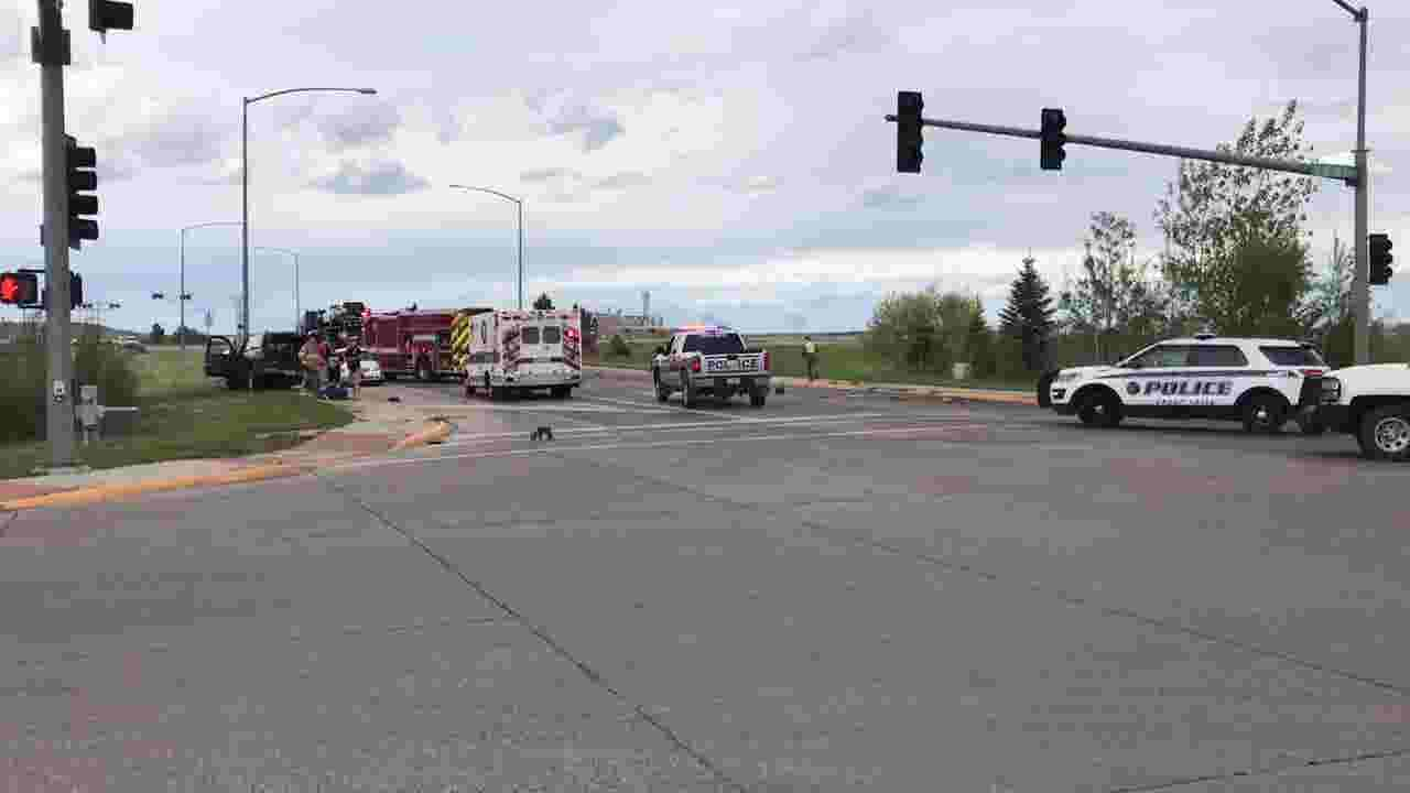 Auto accident near entrance to Malmstrom
