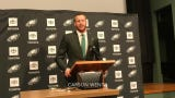 Carson Wentz and Eagles owner Jeffrey Lurie explain why the team signed Wentz to a contract extension.