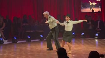 """A clip from retired army veteran Conrad Barrows and his partner Susan Alby's performance at the 2017 """"Movers and Shakers of Sheboygan County."""""""