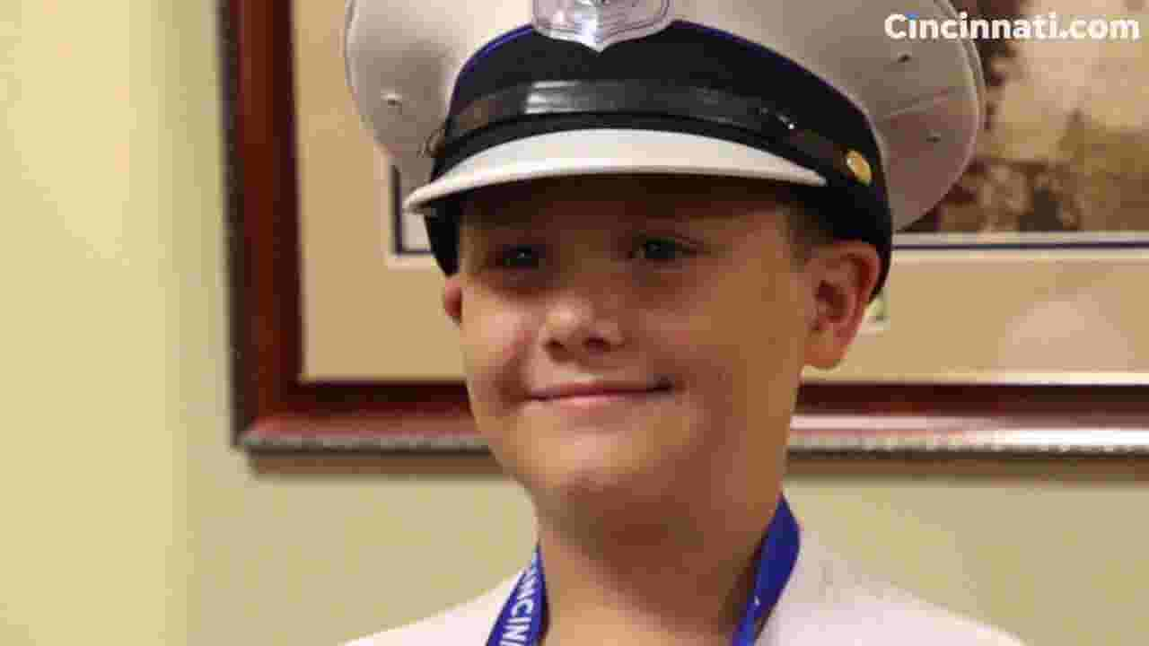 Boy, now cancer free, honored to be 'chief for the day'