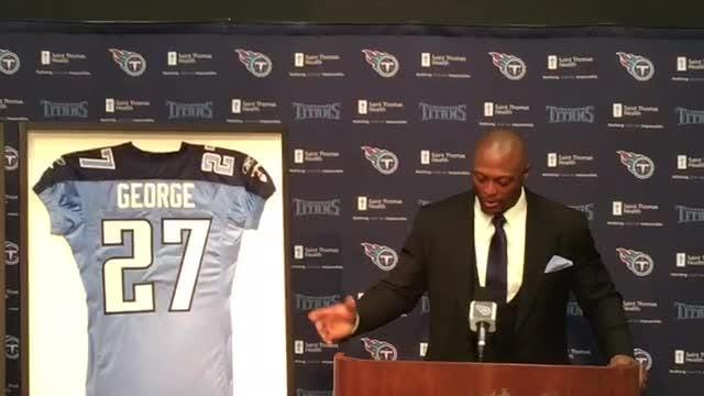 competitive price cac37 db365 Titans legend Eddie George on having his number retired alongside Steve  McNair