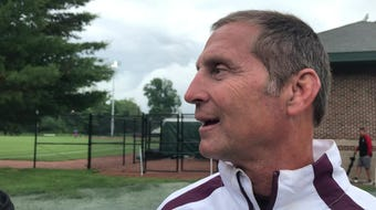Eaton Rapids coach Scott Warriner reflects on a season-ending loss to Stevensville Lakeshore in the state semifinals on June 13, 2019.