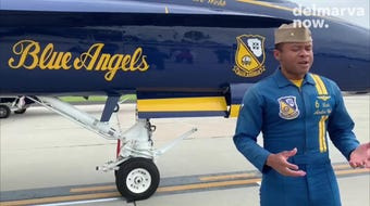 Lt. Cmdr. Andre Webb of the U.S. Navy Blue Angels talks about how the team prepares for air shows including the OC Air Show in Ocean City.