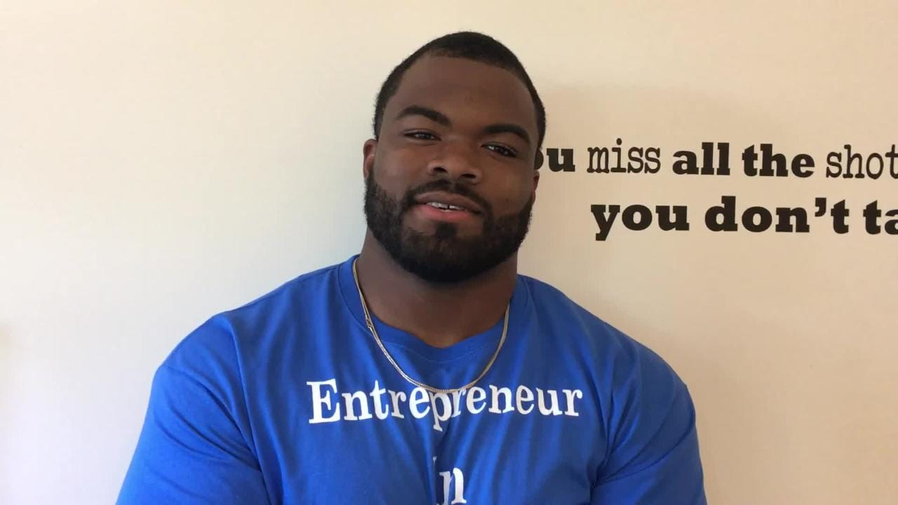 3e301262f Carolina Panthers' Dontari Poe returns to Memphis with entrepreneur camp,  high expectations