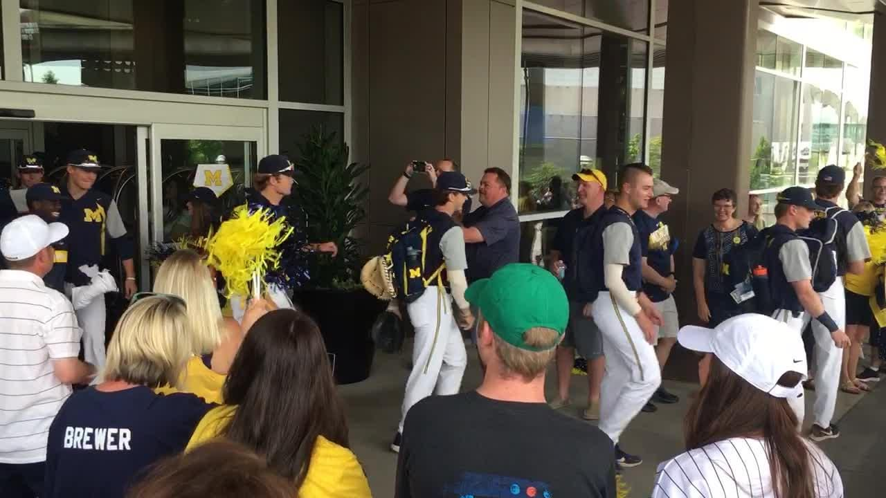 Michigan baseball heads to College World Series on game day