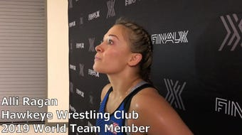 Hawkeye Wrestling Club's Alli Ragan makes her seventh Senior World Team. She beat fellow HWC wrestler Lauren Louive, two matches to none, at Final X.