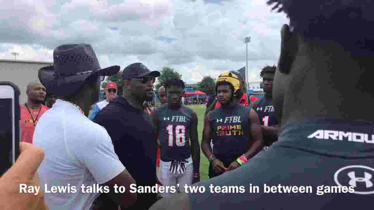 d58e7a49922 Deion Sanders reunites with Cam Newton, Ray Lewis at NFA 7v7 National  Championship