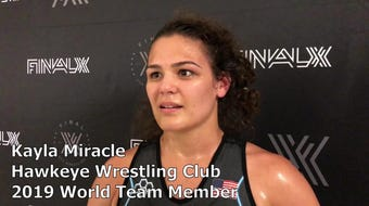 Hawkeye Wrestling Club's Kayla Miracle makes 2019 Senior World Team. She beat Mallory Velte, two matches to none, at Final X in Lincoln, Nebraska.