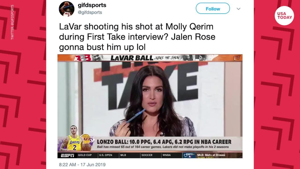LaVar Ball makes tasteless remark to ESPN's Molly Qerim