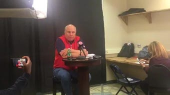 Detroit Pistons senior advisor Ed Stefanski speaks to the media ahead of the NBA draft Monday, June 17, 2019, in Auburn Hills.