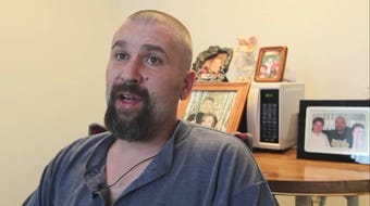 Chris Herring, 42, has repeatedly been denied a spot in community support programs. Instead, he has been in and out of  psychiatric hospitals for nine years.