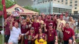 Florida State fans The Animals of Section B are out in Omaha in numbers for the College World Series.