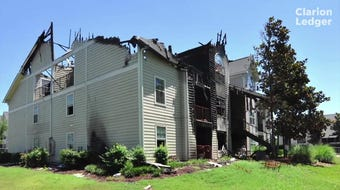 A mysterious knock, a smoke-filled stairway and continued thanksgiving for a couple after a fire at the Vineyard Apartments in Brandon in April.