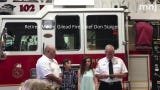 New Springfield Township fire Chief Matt Carey sworn in Monday night at the main fire station.