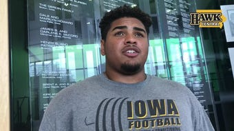 Iowa offensive tackle Tristan Wirfs has been challenged by his position coach to be more aggressive on the field.