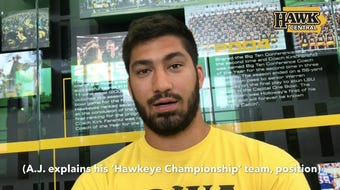 "Iowa defensive end A.J. Epenesa also explains his ""stacked"" Hawkeye Championship team in Iowa's offseason program."